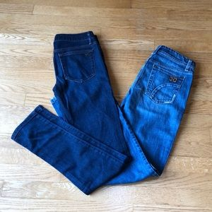 Joes Jeans Skinny and bootcut jean set W25